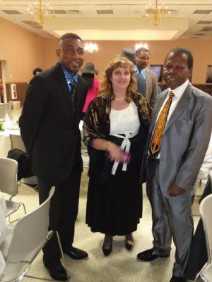 Andy Kalala, Zekeh Gbotokuma & Wife